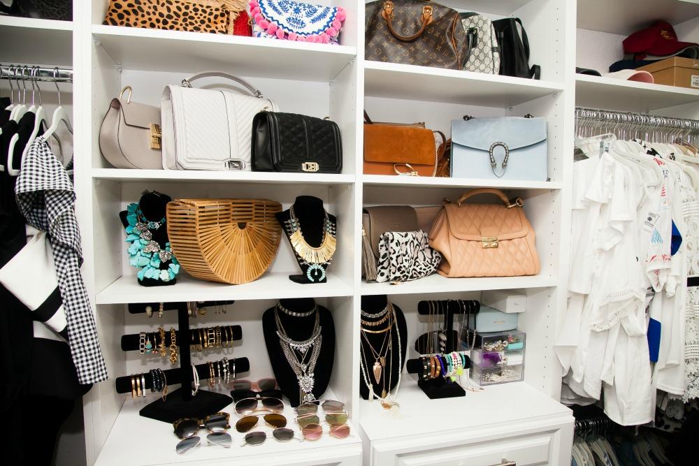 Closet Design, Custom Closets, Storing Accessories and Handbags
