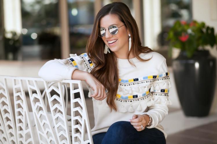 Marks & Spencer tassel sweater
