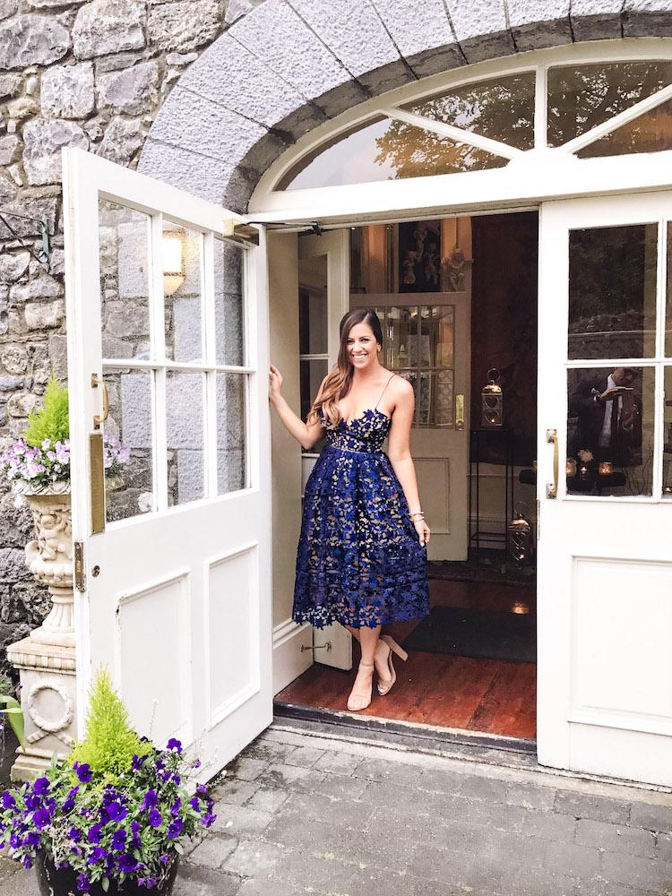 Travel Blogger Jaime Cittadino at Castle Durrow Ireland, Sunflowers and Stilettos Fashion and Lifestyle Blog