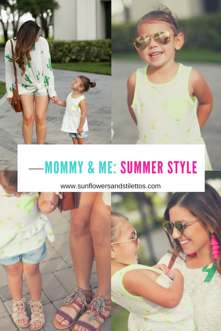 Mommy & Me Summer Style, Sunflowers and Stilettos blog