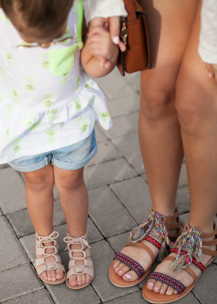Mommy and Me Summer Sandals, Lace Up Sandals, Toddler Girl Gladiator Sandals