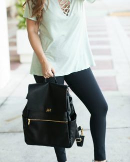Lace-Up Tee _ Freshly Picked Diaper Bag