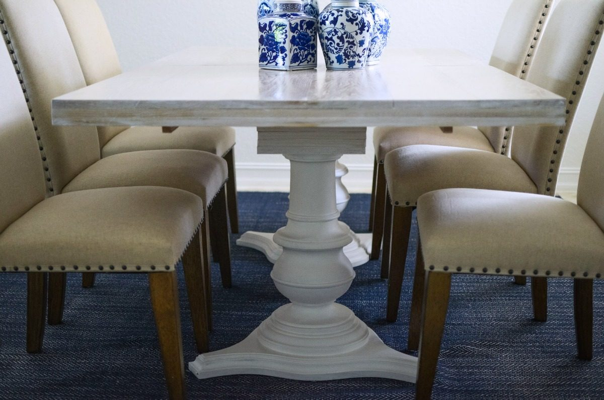 Dining Room Farmhouse DIY Dining Table