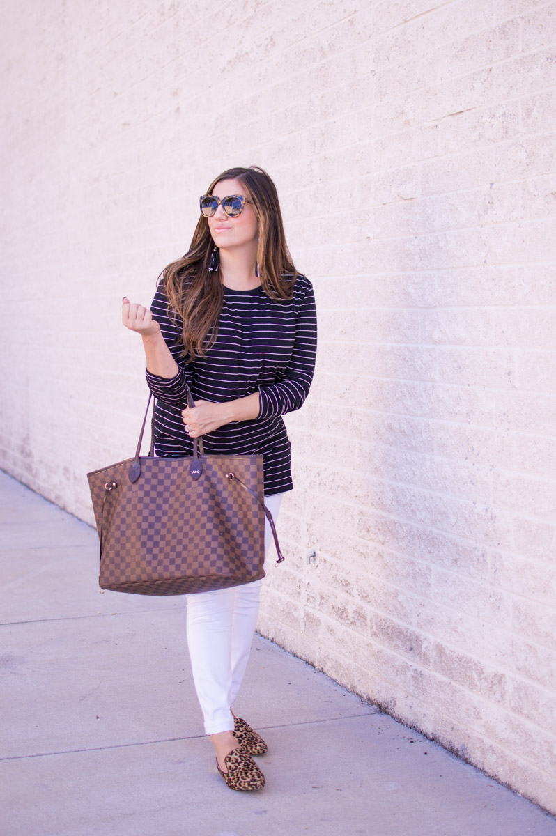 How To Pattern Mix_ Pattern Mix Like A Pro_ Leopard and Stripes // Sunflowers and Stilettos Fashion Blog
