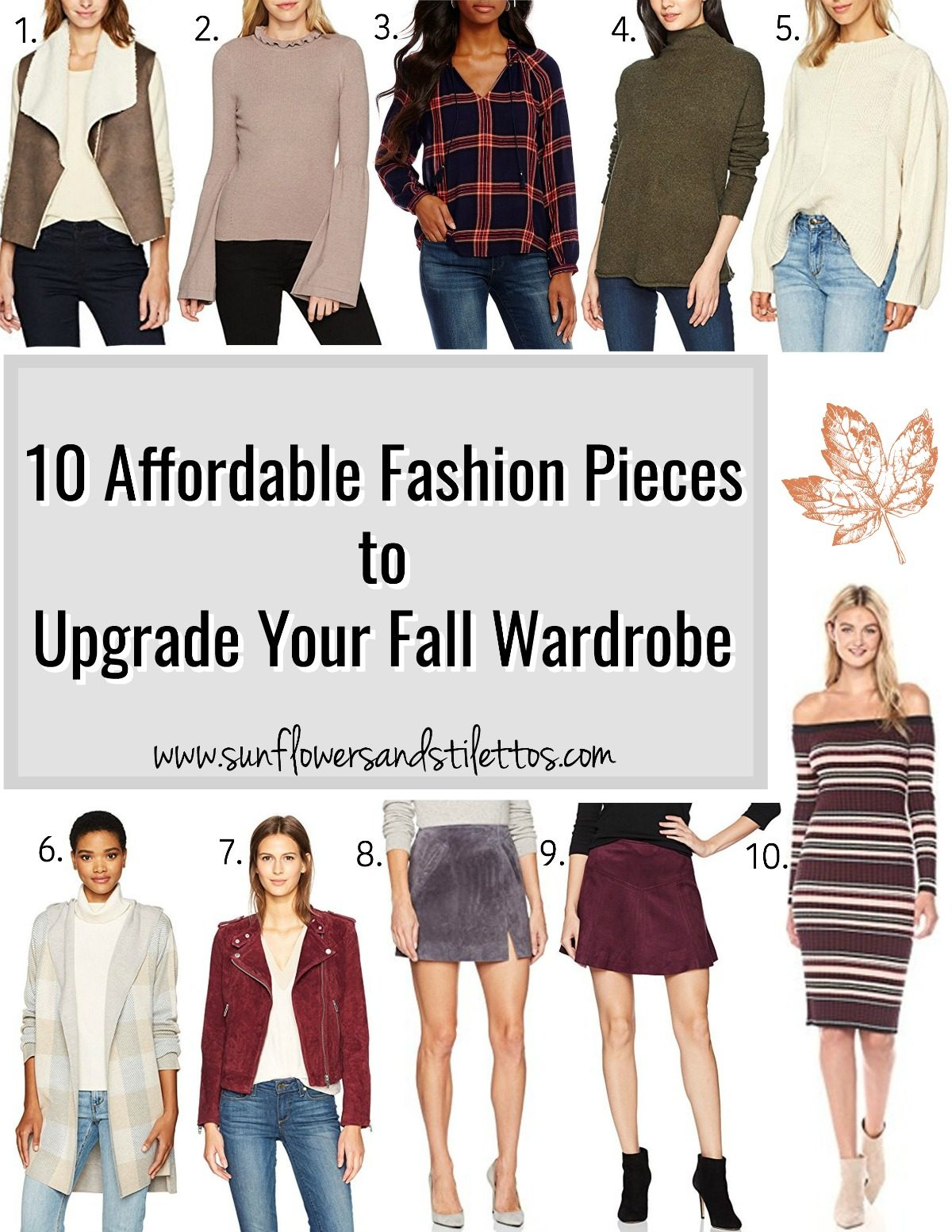 10 Affordable Fashion Pieces to Upgrade Your Fall Wardrobe