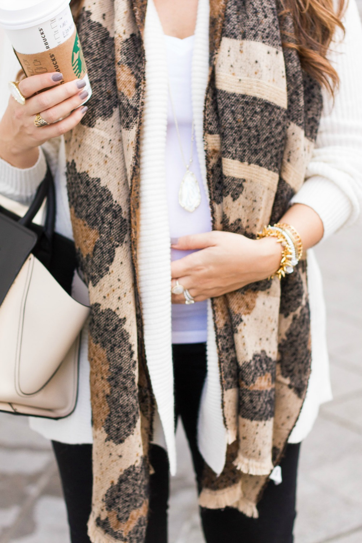 Leopard Scarf, Kendra Scott Jewelry, Styled by Fashion Blogger Jaime Cittadino