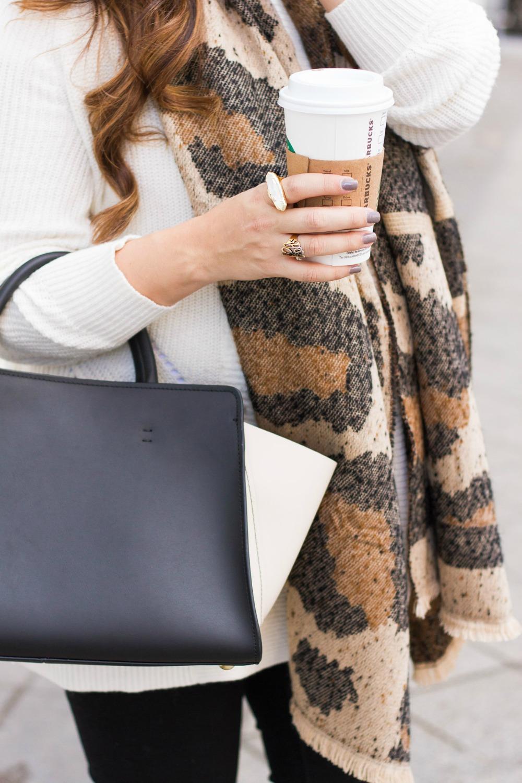 Zac Zac Posen Bag, Leopard Scarf, Fall Fashion, Fall Outfit Inspo