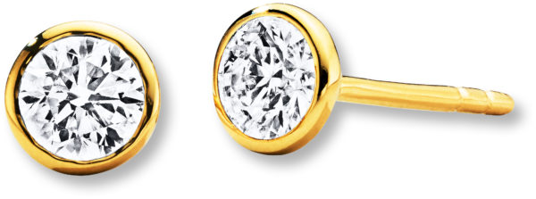 Jared Yellow Gold Diamond Earrings
