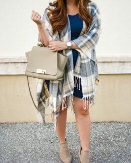 plaid poncho cape, plaid blanket scarf, plaid cape