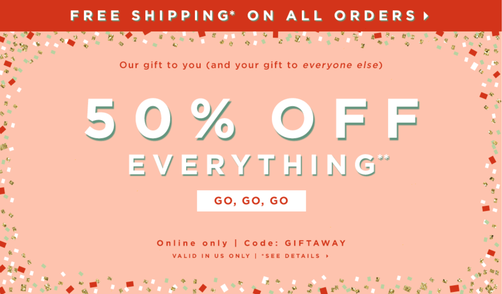 One Day 50& Off Sale