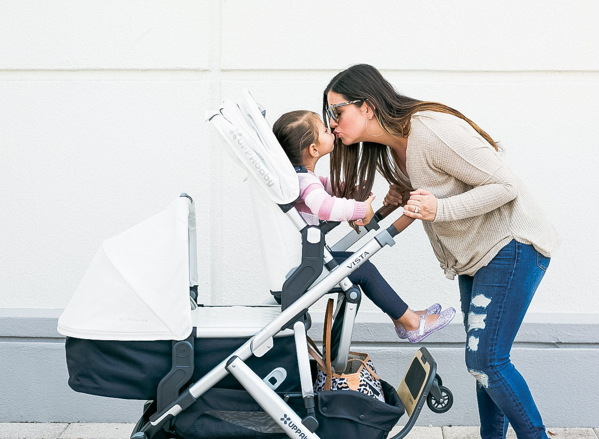 South Florida lifestyle blogger, Jaime Cittadino sharing her review on UPPAbaby Vista stroller