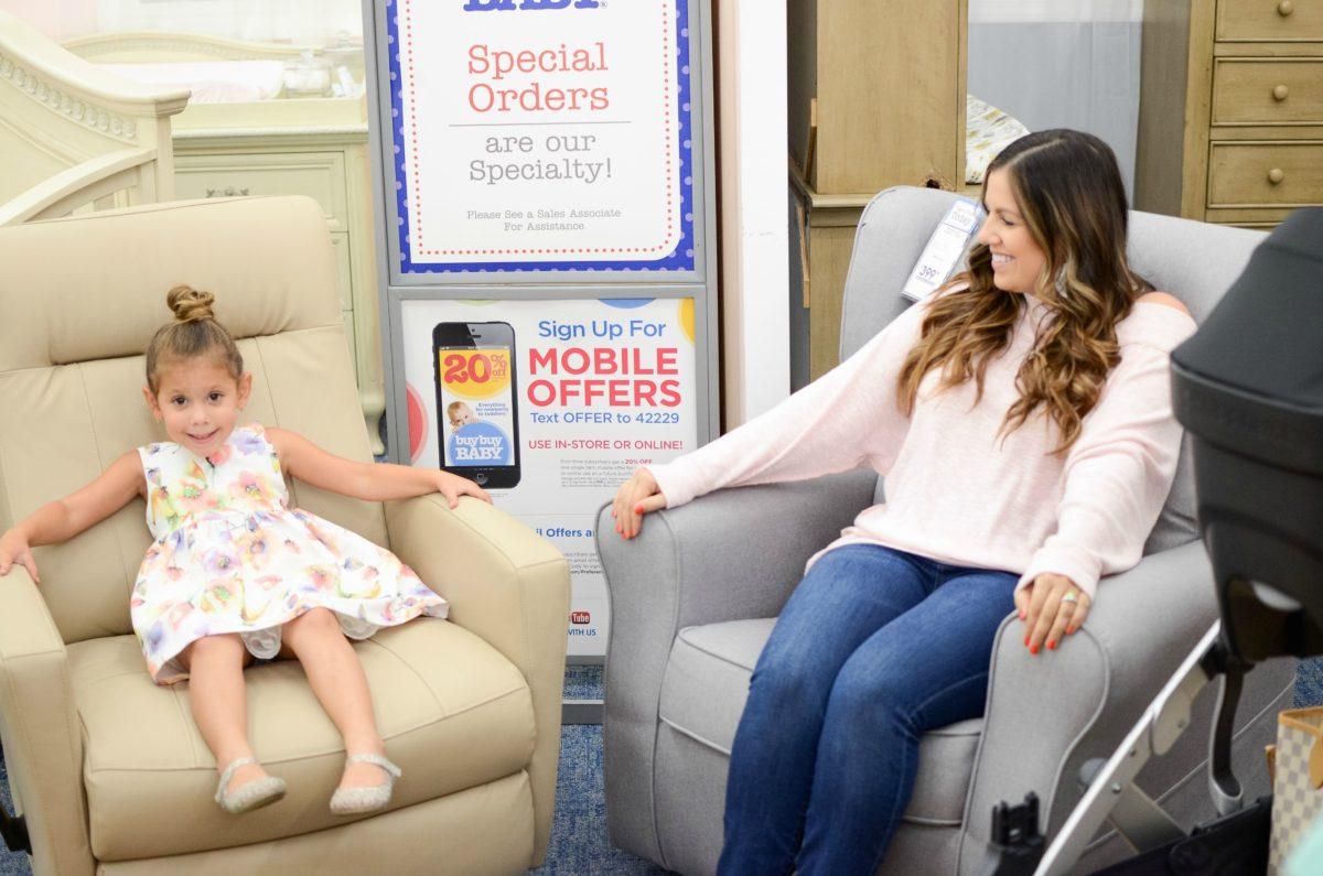buybuy BABY furniture, Sunflowers and Stilettos motherhood blog