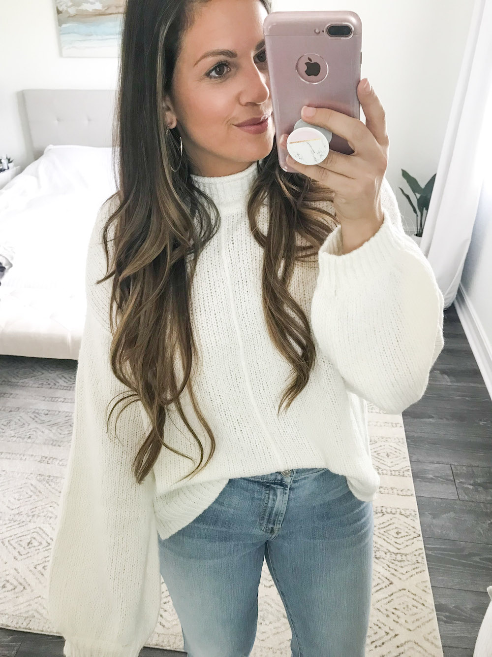 BP balloon sleeve sweater Nordstrom