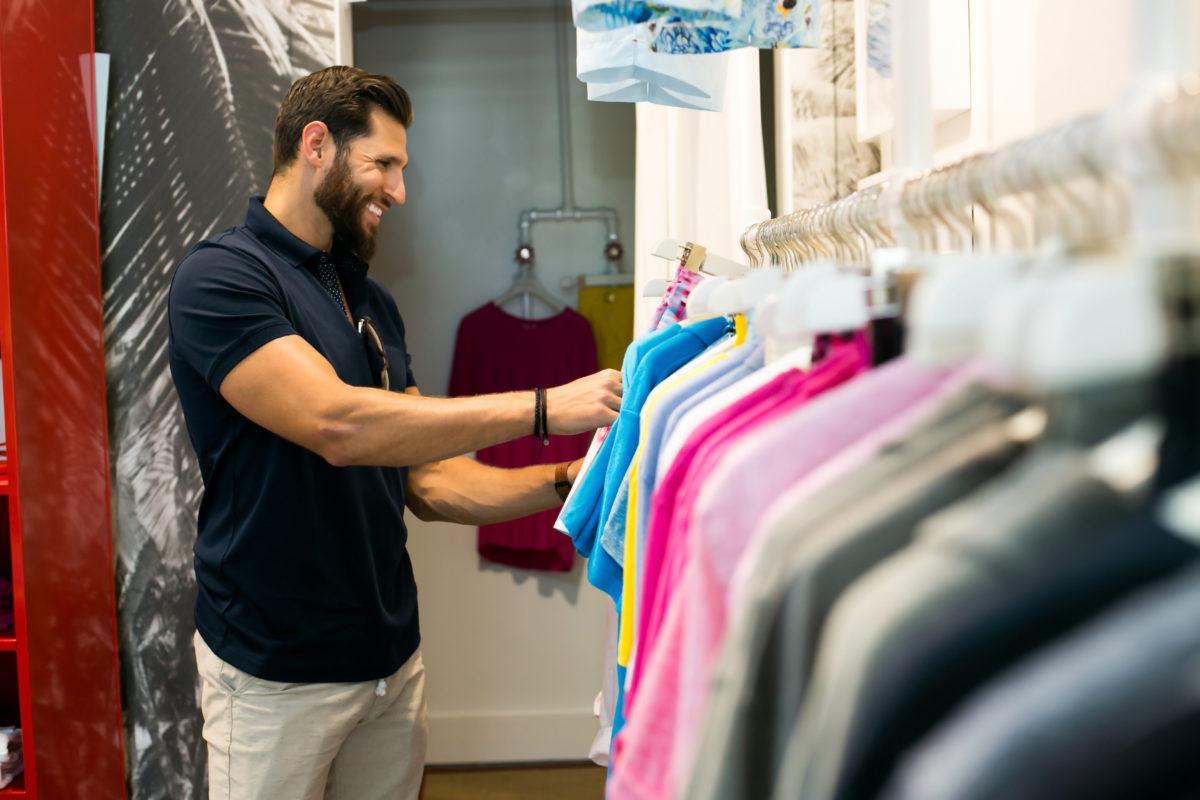 Casey Cittadino shopping at Orlebar Brown Palm Beach