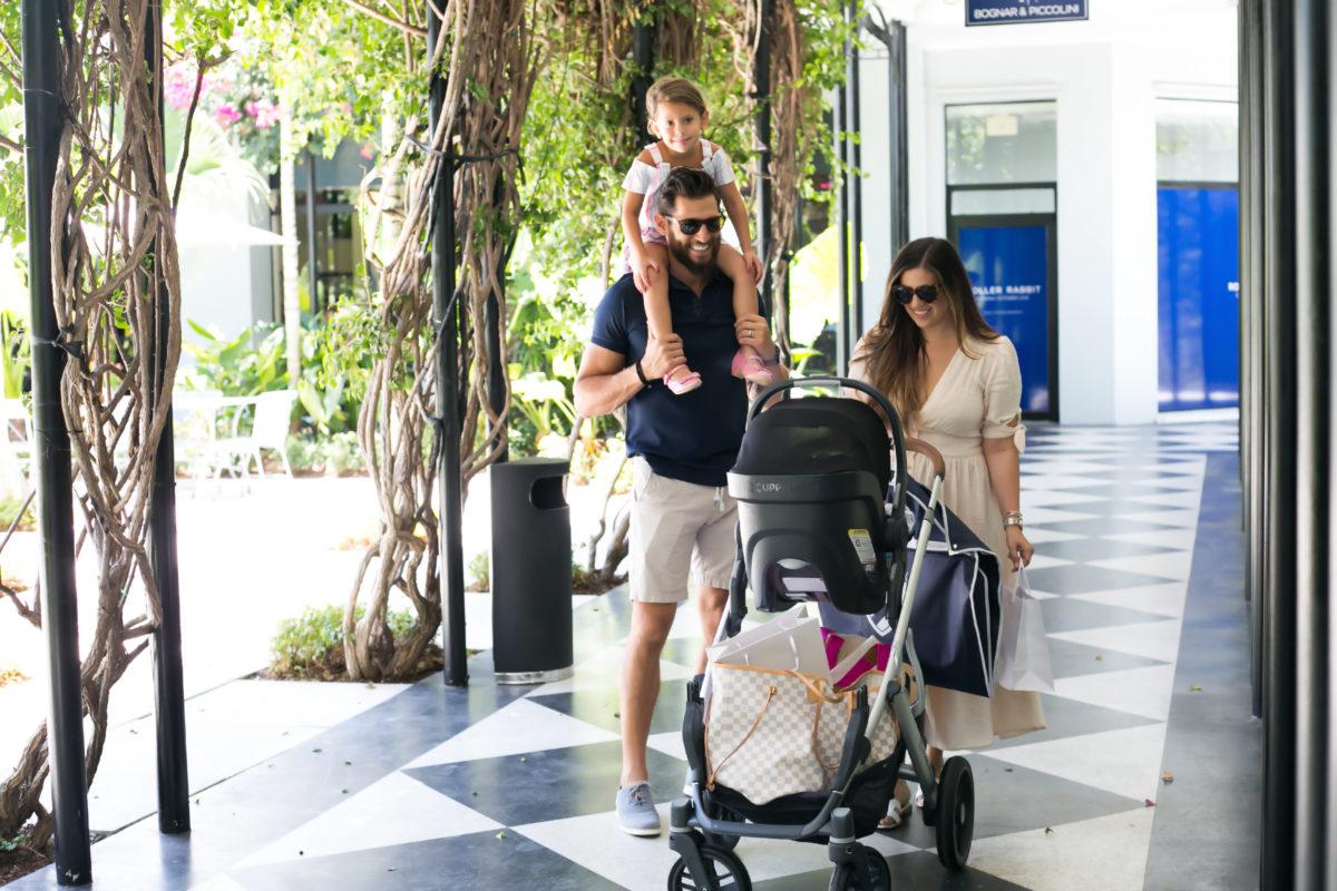 South Florida blogger, Jaime Cittadino and family shopping at The Royal Poinciana Plaza Palm Beach