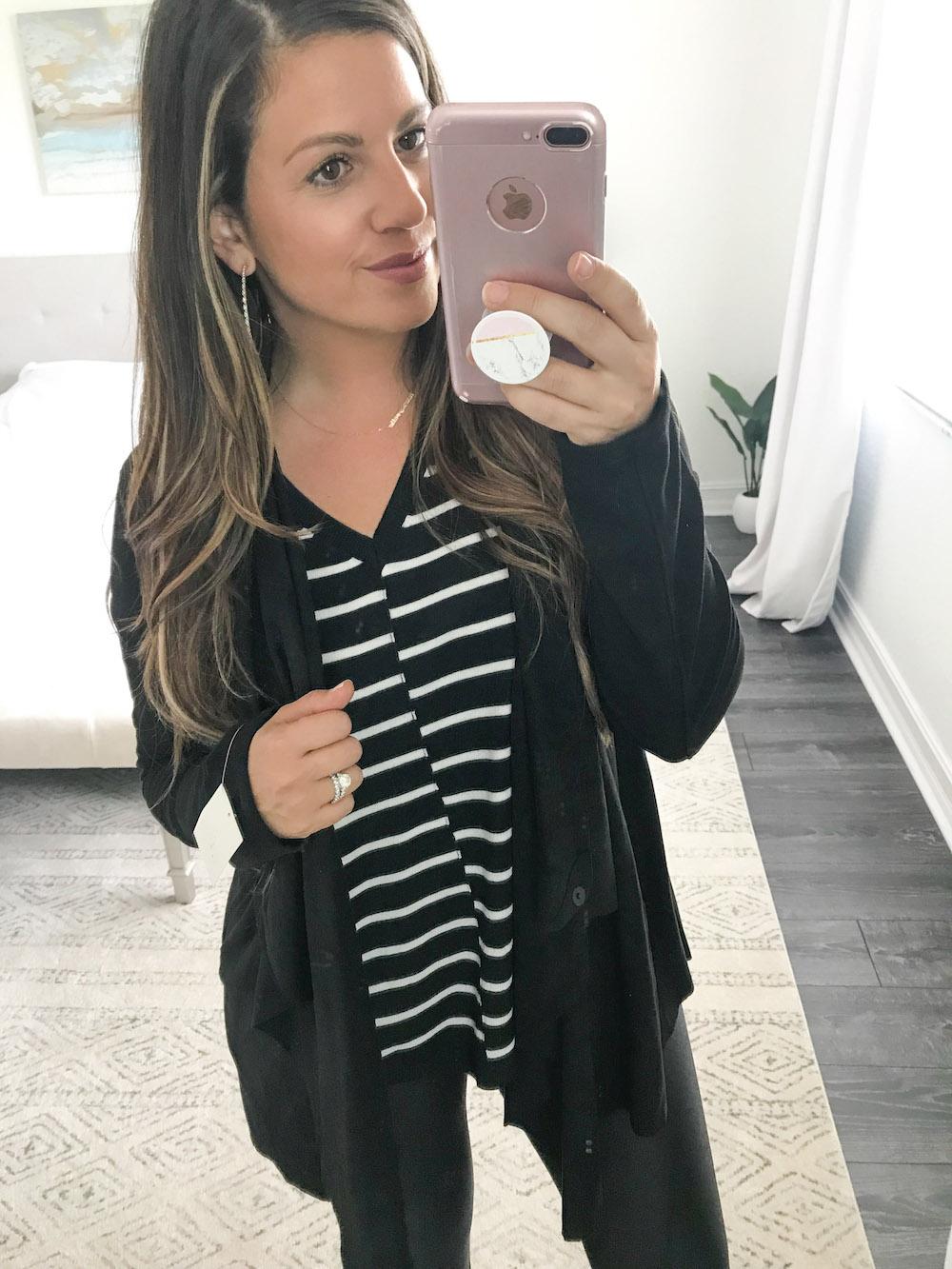 calson stripe tee, blanknyc waterfall jacket