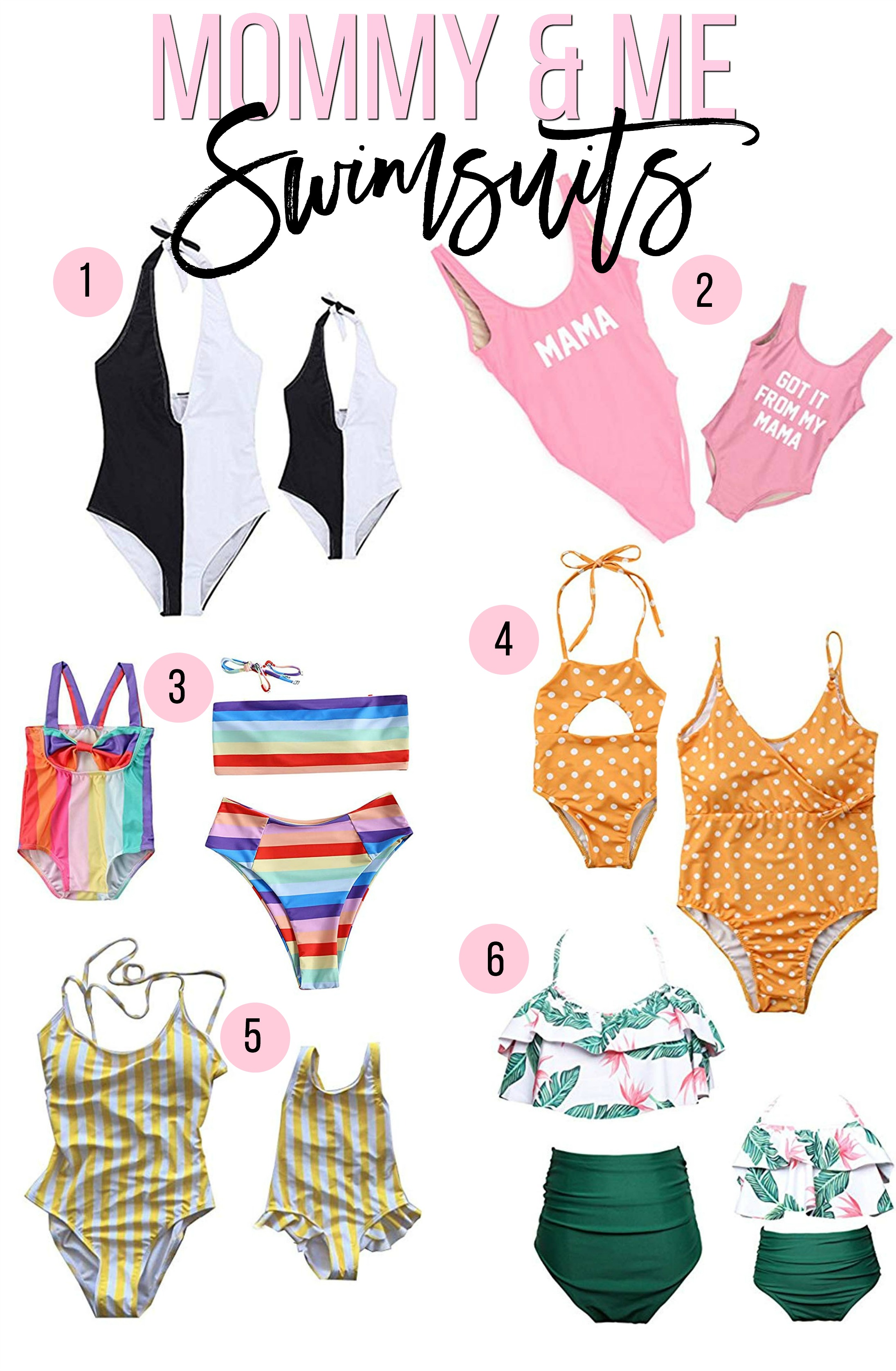 mommy and me swimwear, mommy and me swimsuits, Sunflowers and Stilettos