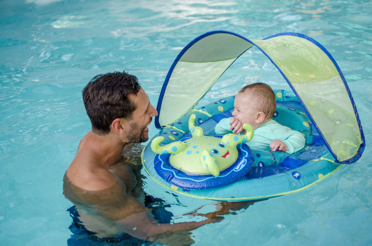 baby pool float with umbrella