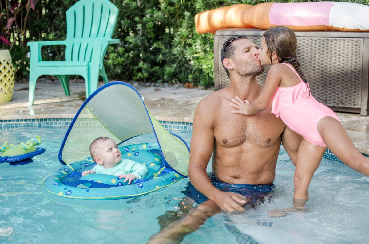 family pool fun, pool days with kids