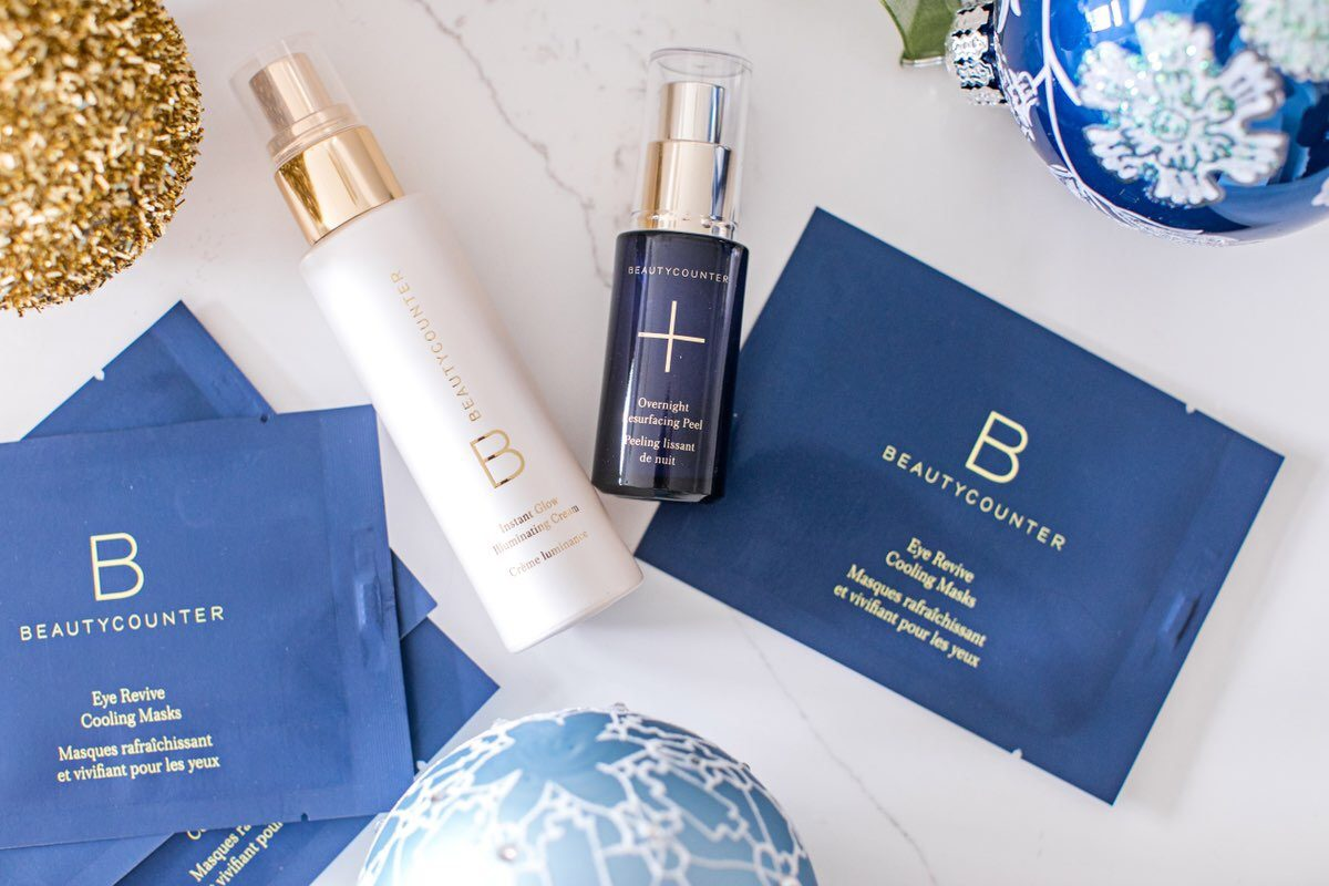 beautycounter skincare holiday set, beautycounter resurfacing peel