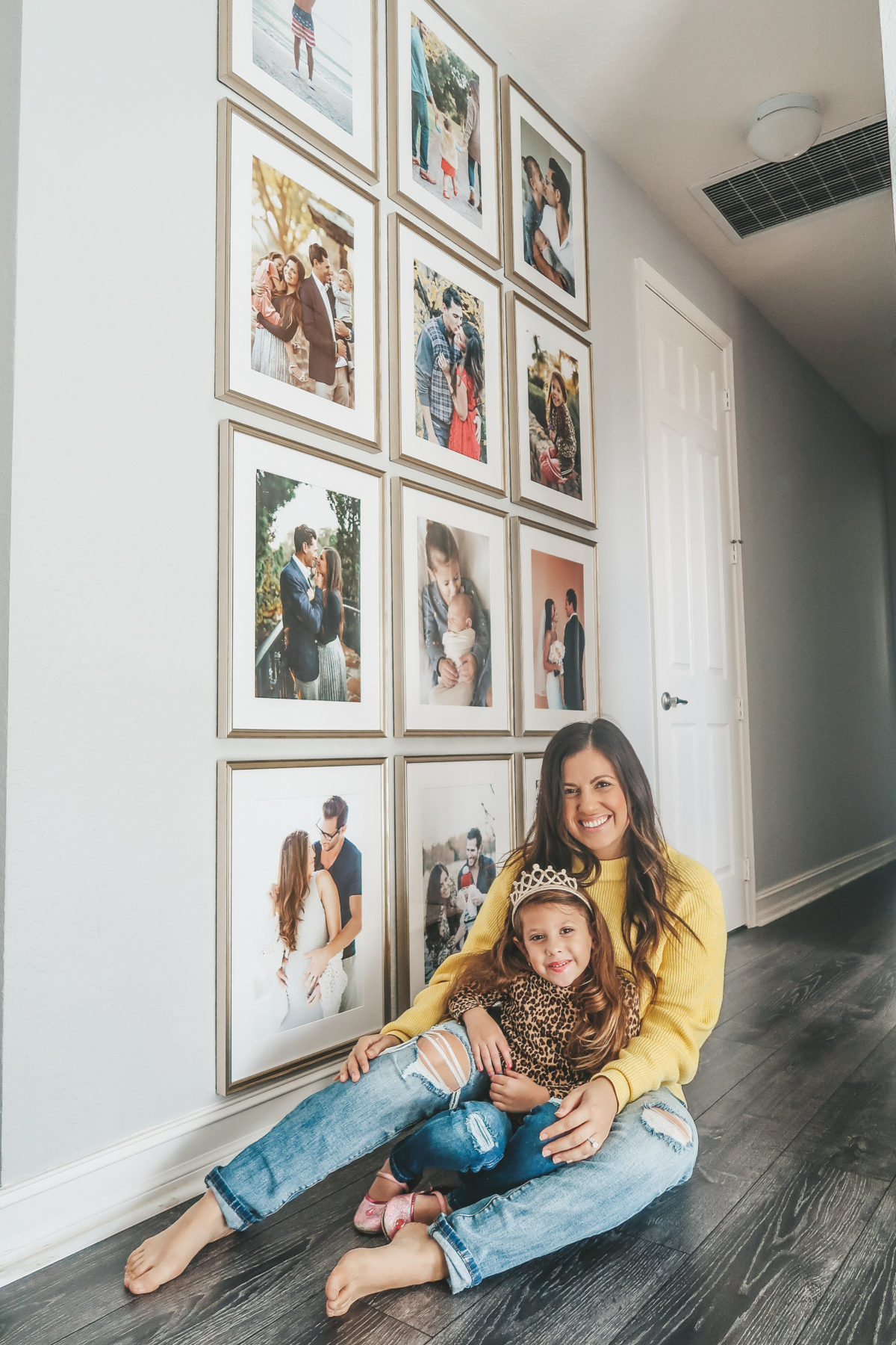 how to create a gallery wall, floor to ceiling gallery wall, Framebridge gallery wall