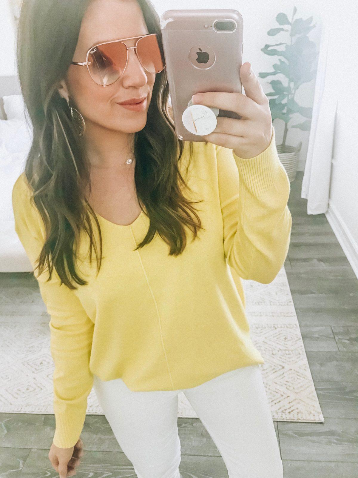 High Key Mini Double Rose Quay Sunglasses, Florida Fashion and Lifestyle Blogger Jaime Cittadino