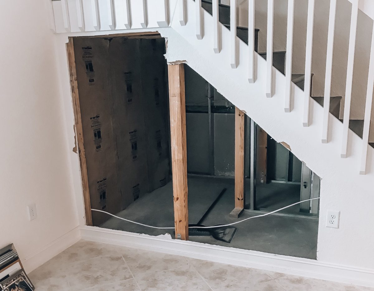 Diy Home Wine Cellar Utilizing Space Under The Stairs Sunflowers And Stilettos