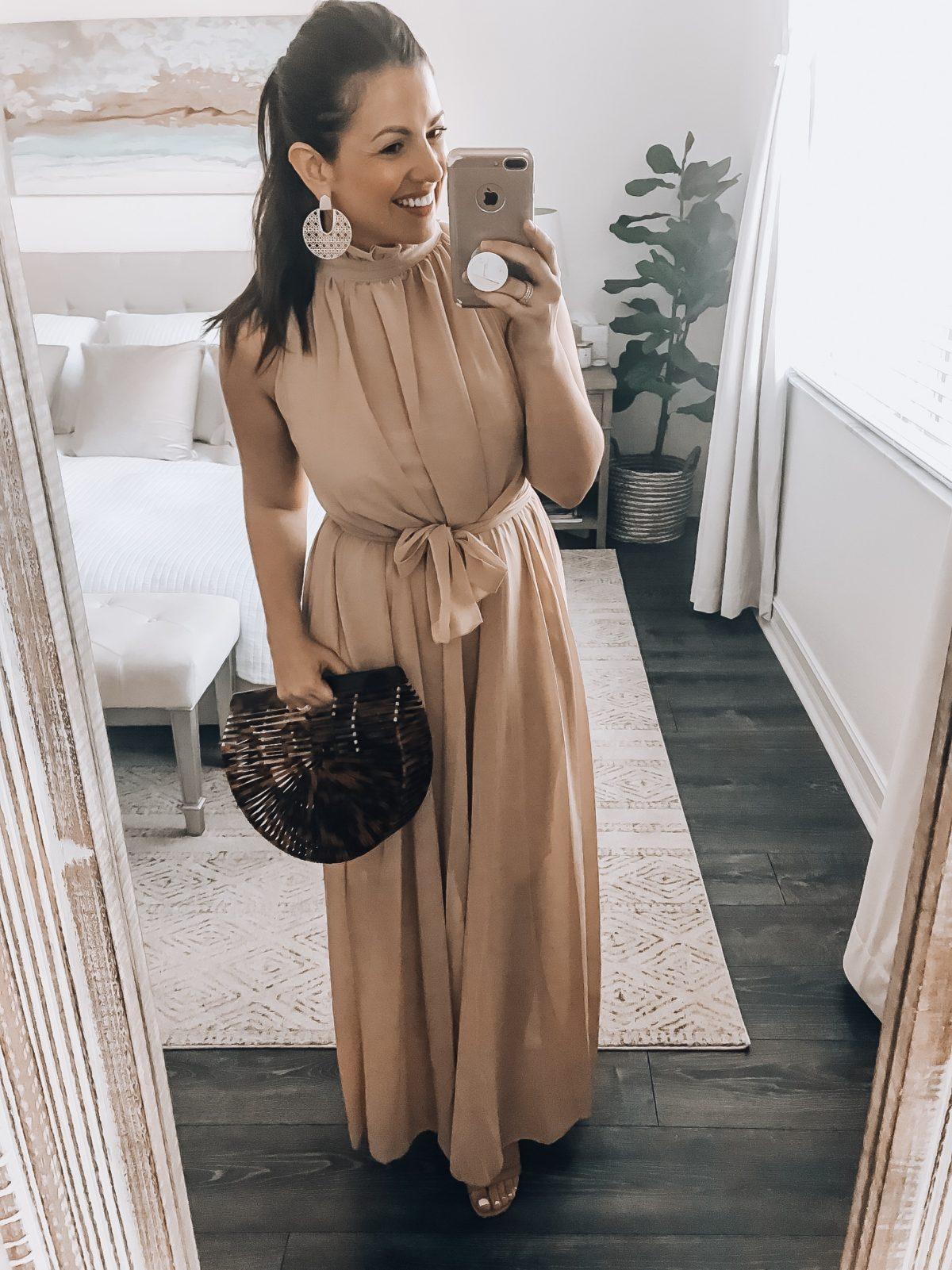 Amazon Fashion Haul wedding guest dress, chiffon maxi dress