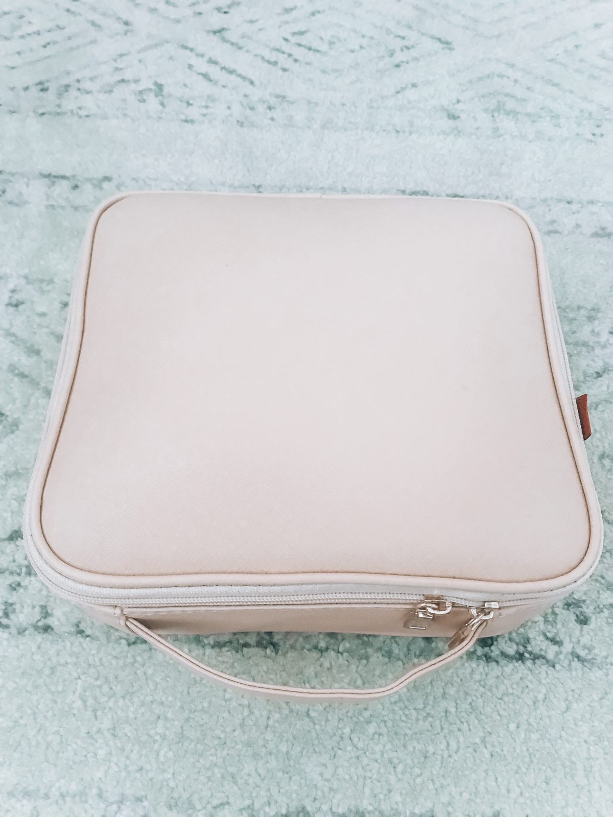 Large Leather Travel Cosmetic Case