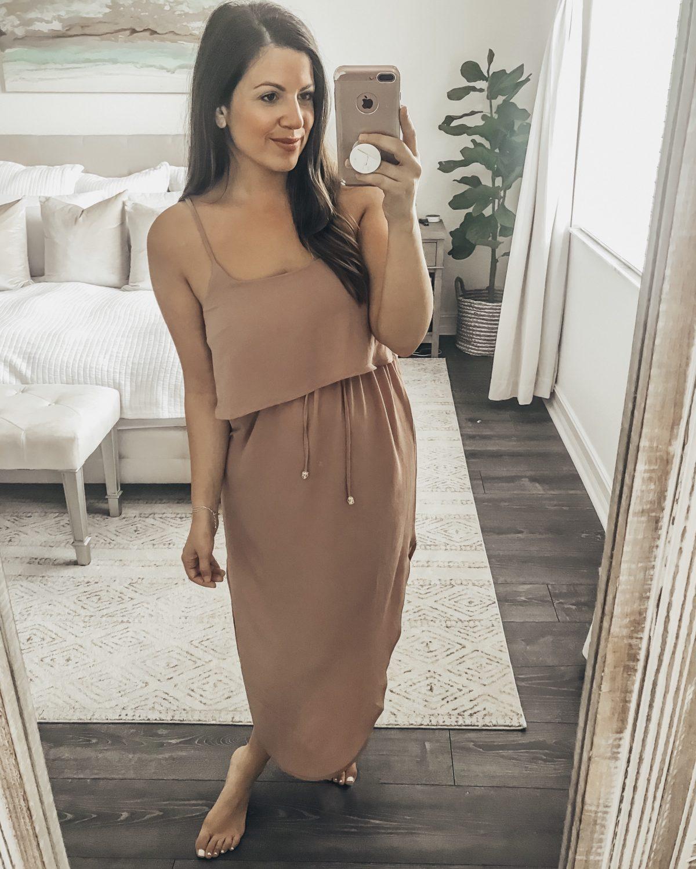 Circle Hem Midi Dress, Amazon Fashion midi dress, Summer beach dress