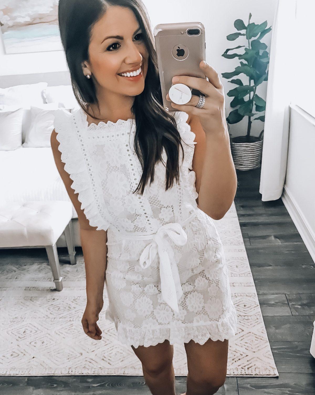 white lace mini dress, Amazon fashion