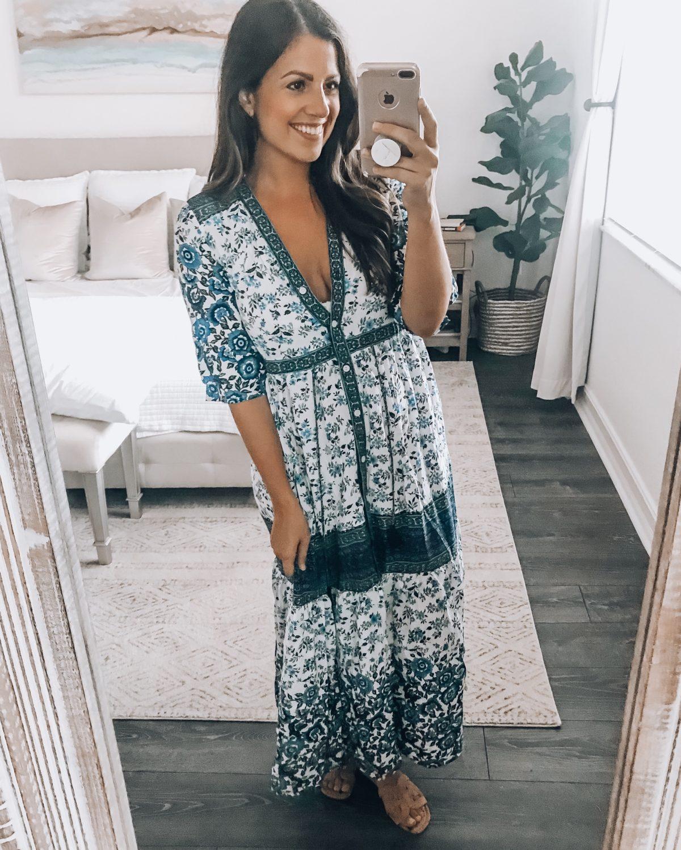 boho maxi dress, Amazon Fashion maxi