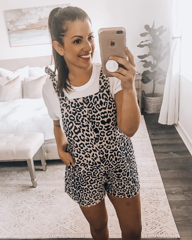 Amazon leopard overalls, leopard shorts overalls