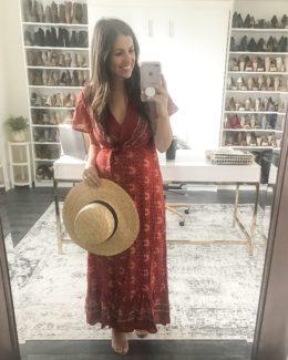 boho red wrap maxi dress, Amazon Fashion boho maxi dress