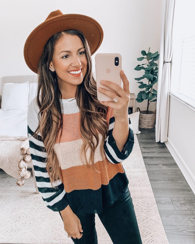 Amazon fashion stripe light weight sweater