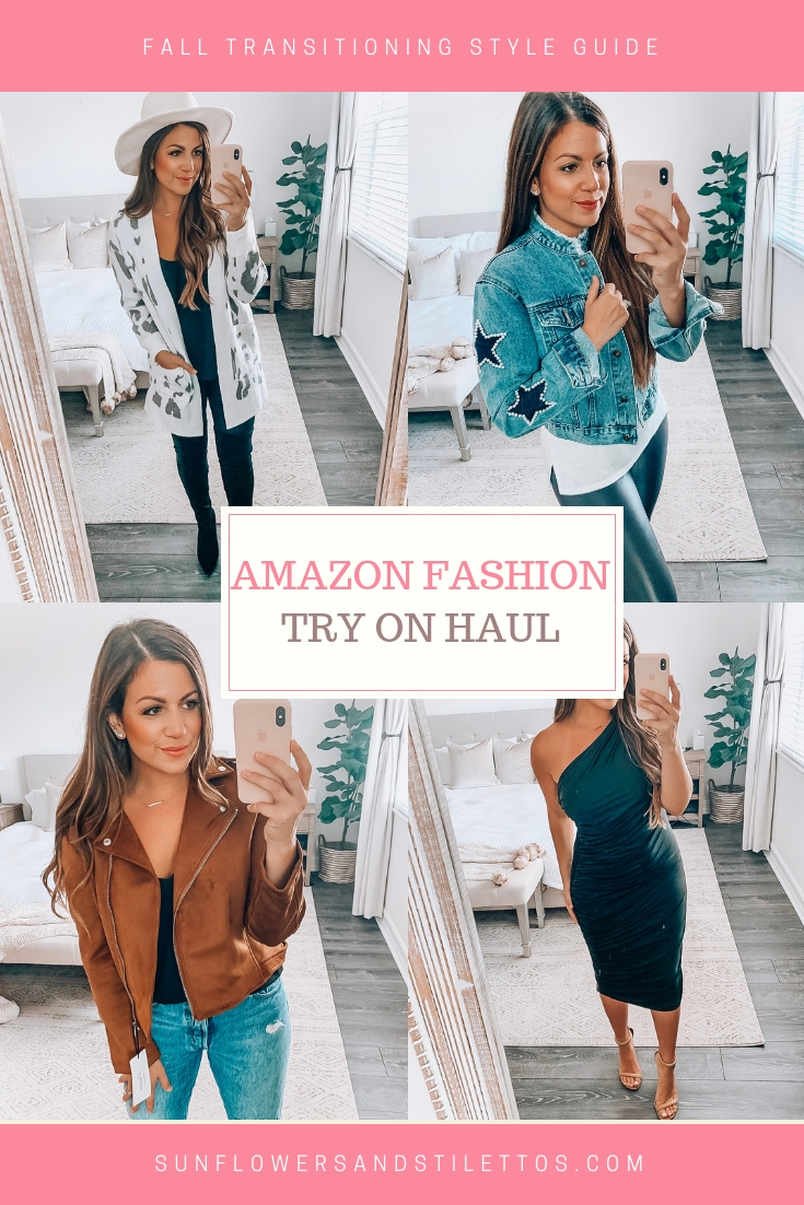 Amazon Fashion Haul Fall Style, affordable fashion blogger Jaime Cittadino, Sunflowers and Stilettos blog
