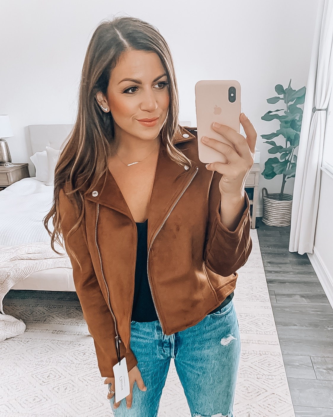Amazon Fashion moto jacket, affordable moto jacket, faux fur moto jacket, fall fashion inspo, Jaime Cittadino blogger