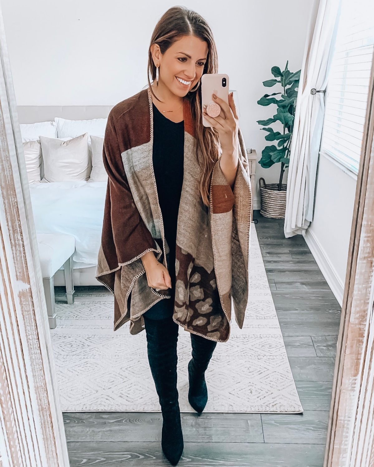 winter kimono cape, fall style