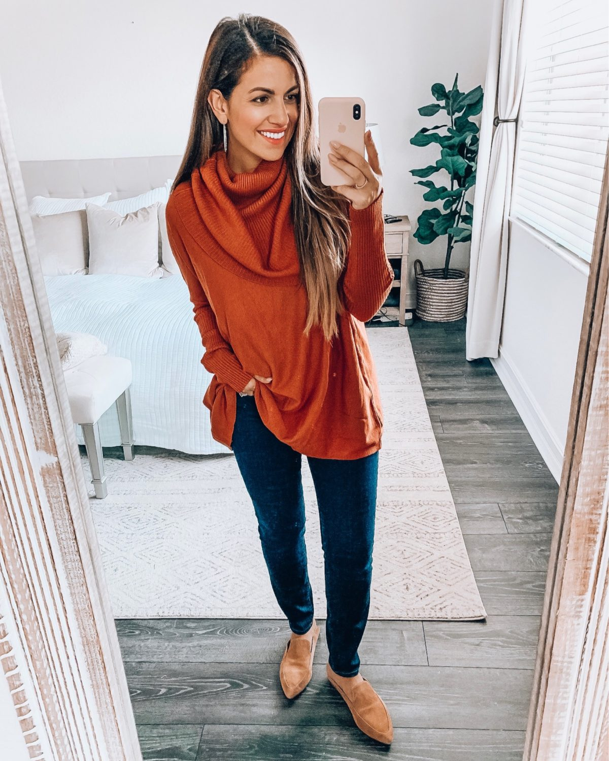 oversize cowl neck sweater