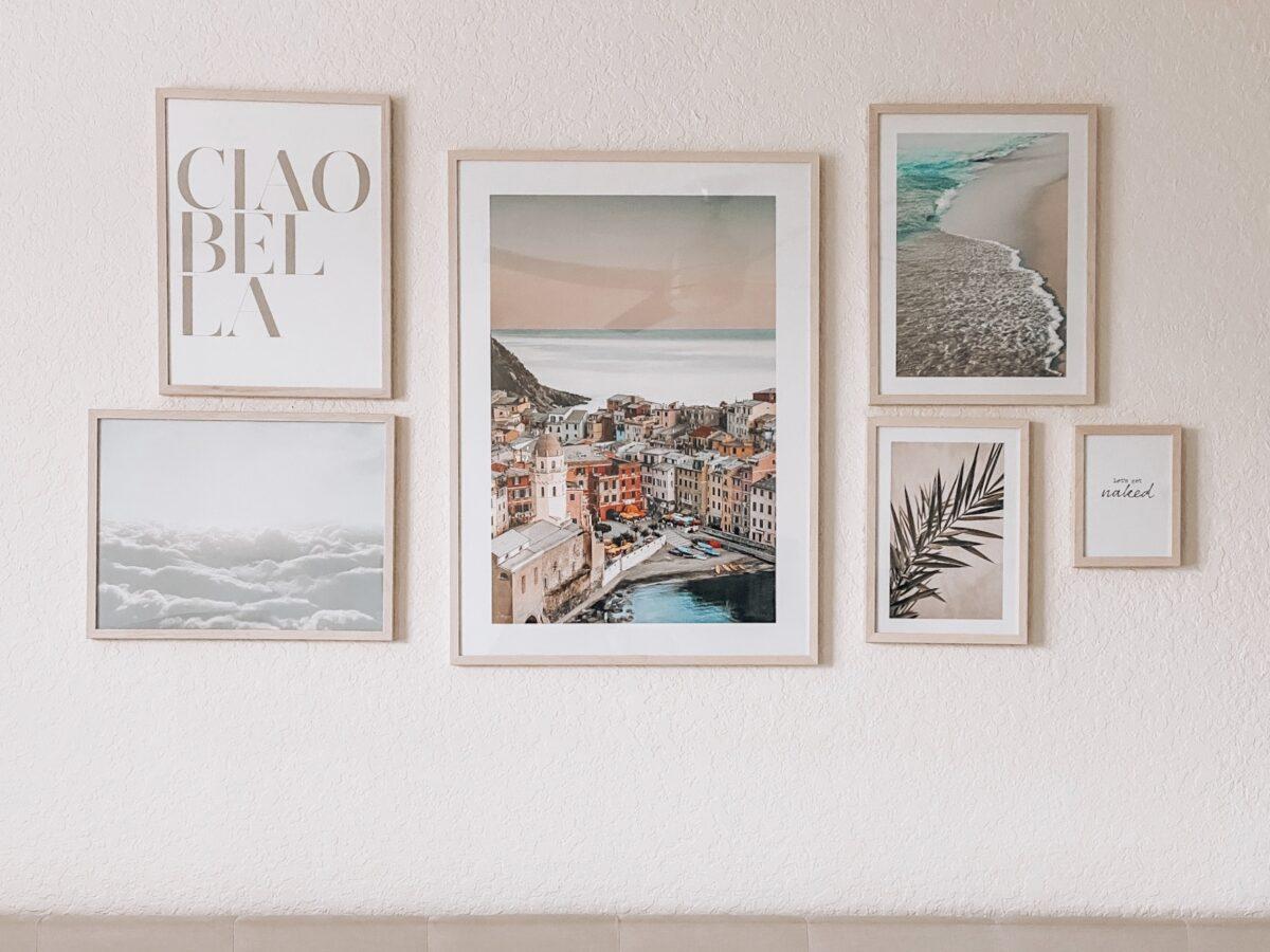DIY Bedroom Gallery Wall, Home Gallery Wall, Jaime Cittadino Home Blog Florida Blogger