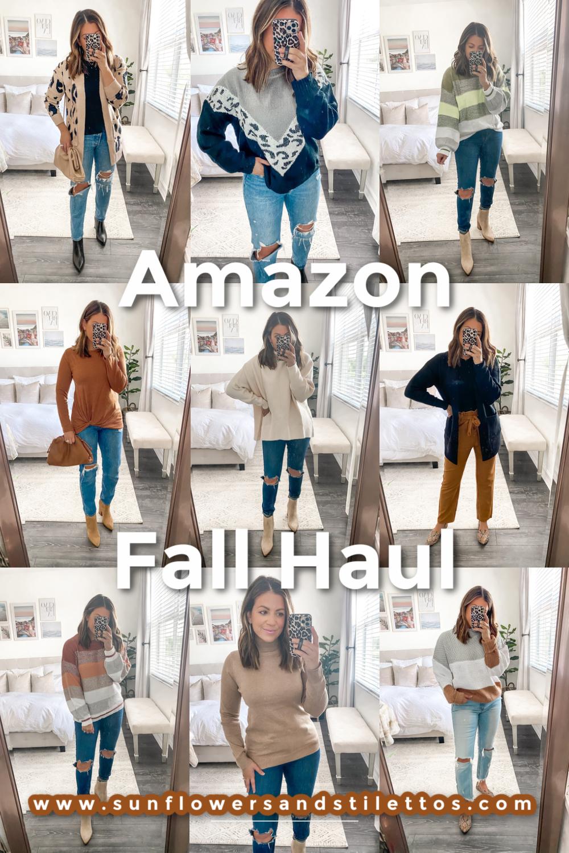 September Amazon Fashion Haul, Amazon Fashion Fall Haul, Amazon Sweater, Amazon Leopard Sweater