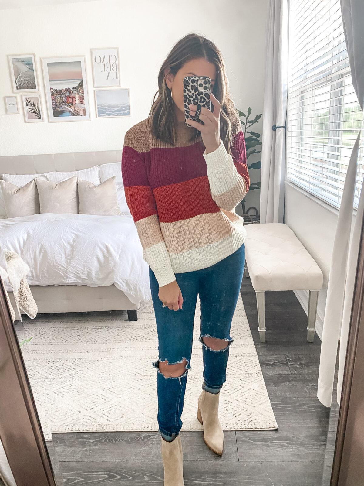 Amazon fall sweater stripe sweater