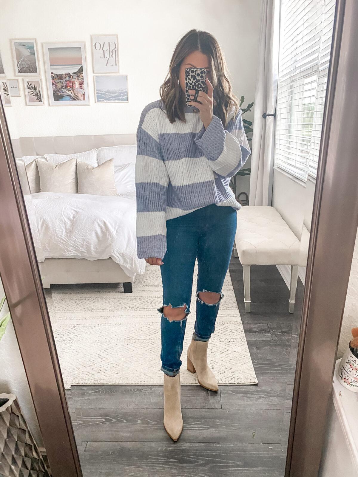 Amazon oversize stripe sweater, colorblock oversize sweater