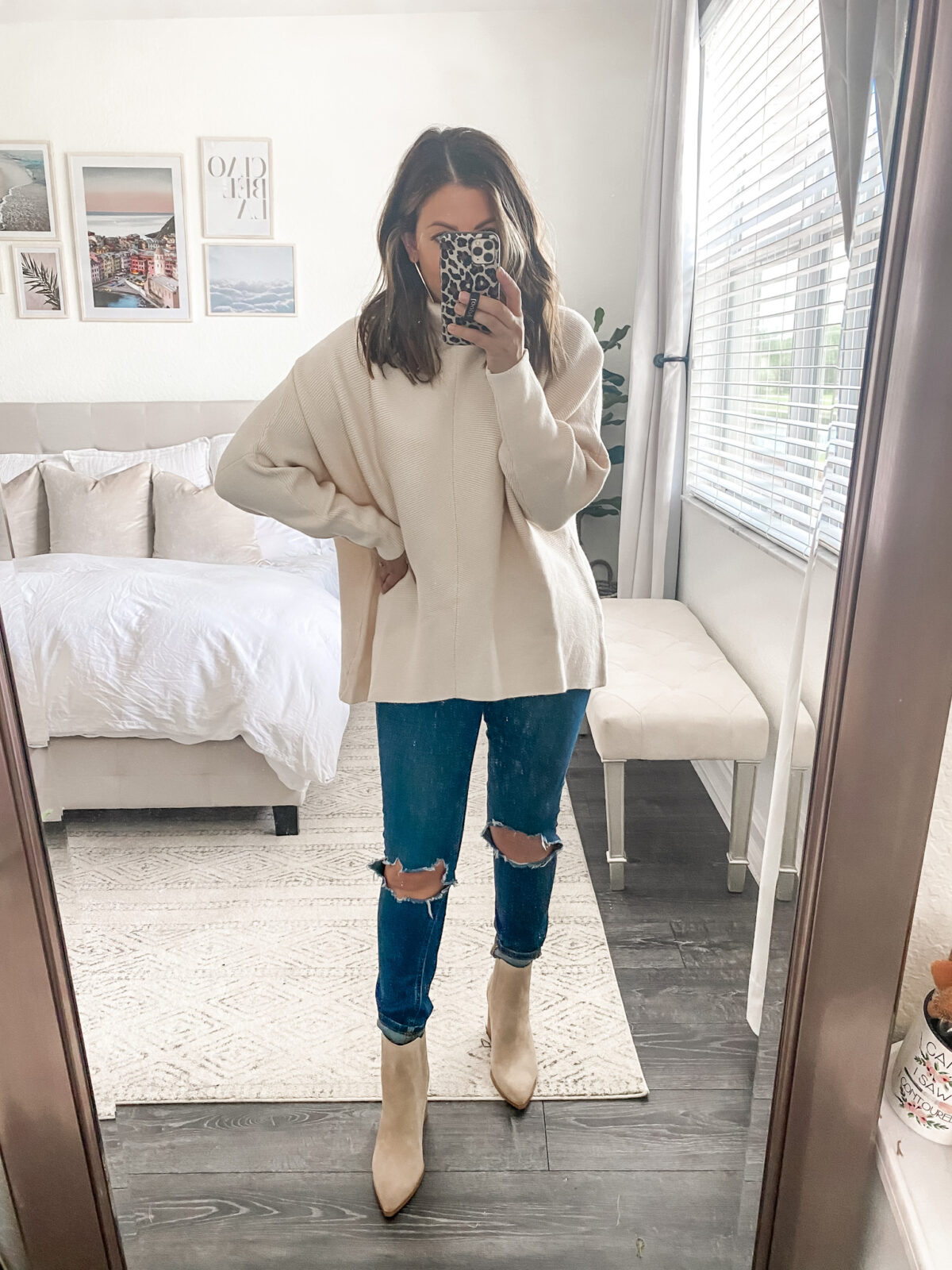 Amazon oversize turtleneck sweater