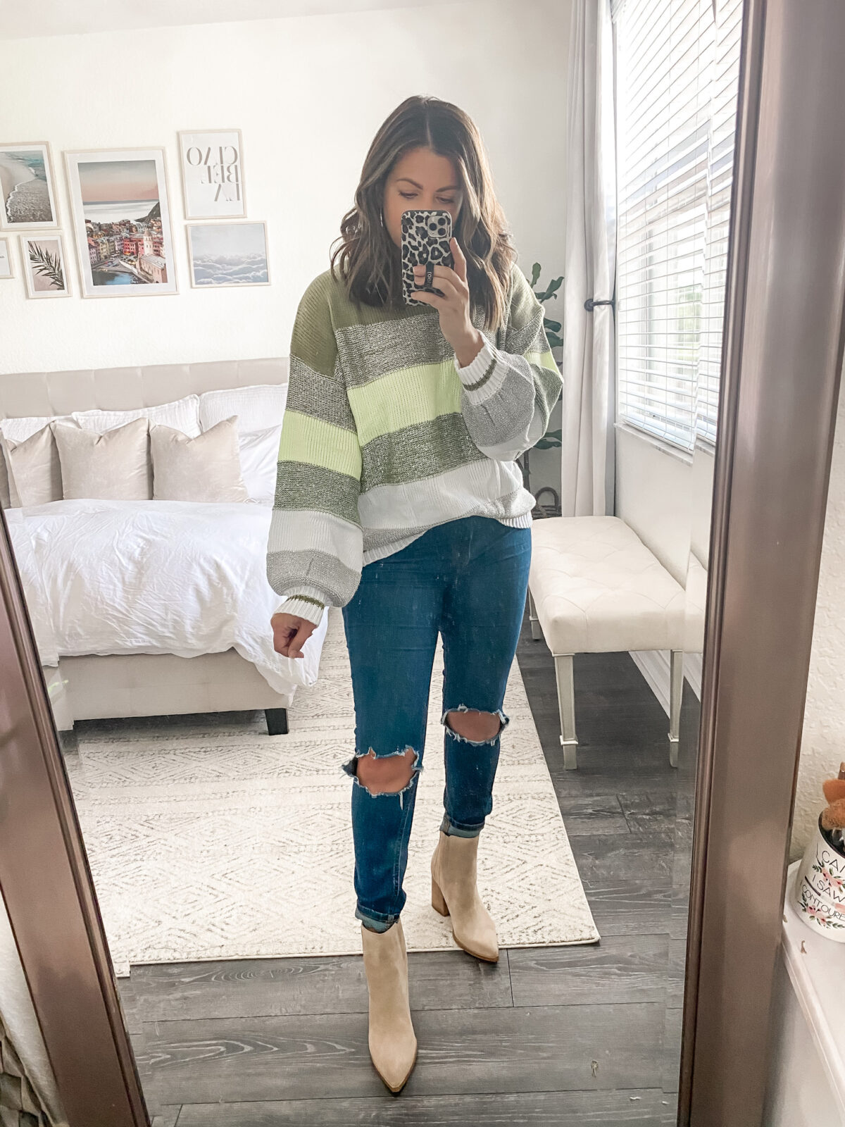 Amazon sweater striped metallic sweater